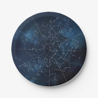 Celestial Map Paper Plate