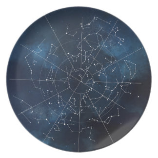 Celestial Map Party Plate