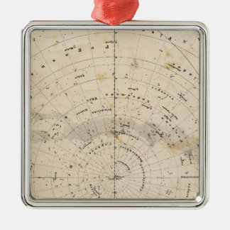 Celestial map Silver-Colored square decoration