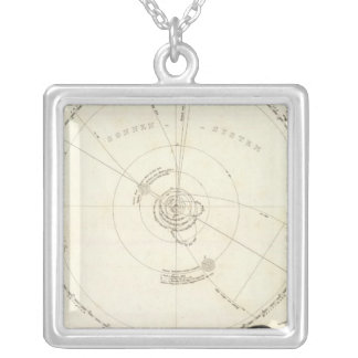 Celestial Map Silver Plated Necklace