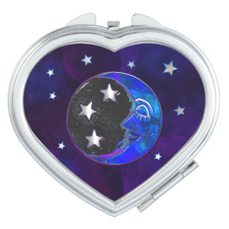 Celestial Momments Bohemian Folk Art HEART MIRROR Mirrors For Makeup