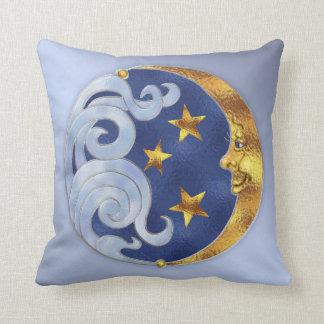 Celestial Moon and Stars Cushion