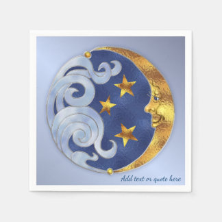 Celestial Moon and Stars Disposable Napkins