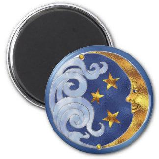 Celestial Moon and Stars Fridge Magnets