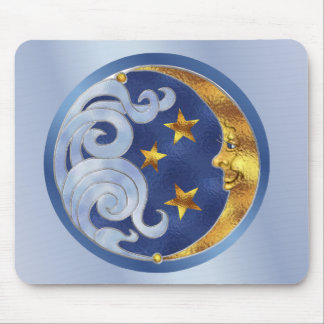 Celestial Moon and Stars Mouse Mat