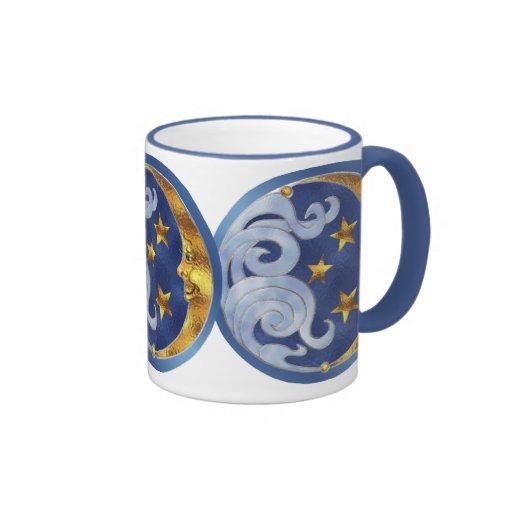 Celestial Moon and Stars Mugs