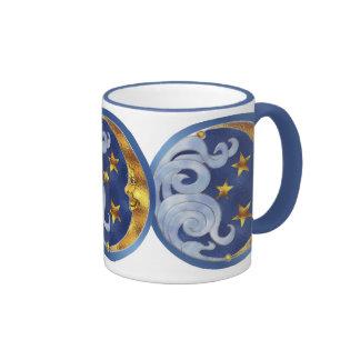 Celestial Moon and Stars Ringer Mug