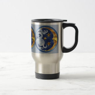 Celestial Moon and Stars Travel Mug