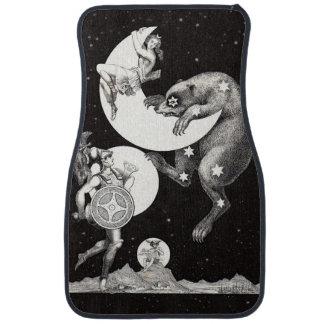 Celestial Moon Goddess Luna Ursa Major and Mars Car Mat