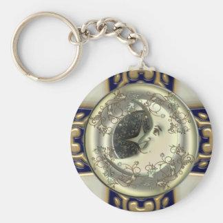 Celestial Moon Keychain
