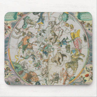 Celestial Planisphere Showing the Signs of the Zod Mouse Pad