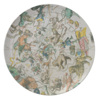 Celestial Planisphere Showing the Signs of the Zod Plate