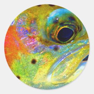 Celestial Rainbow Classic Round Sticker