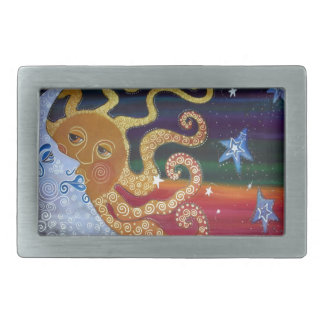 Celestial Rectangular Belt Buckle