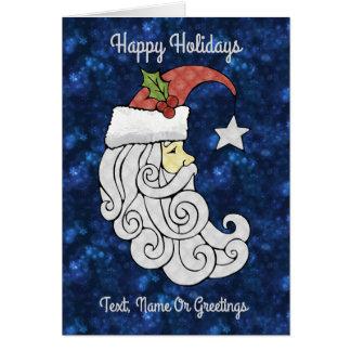 Celestial Santa Card