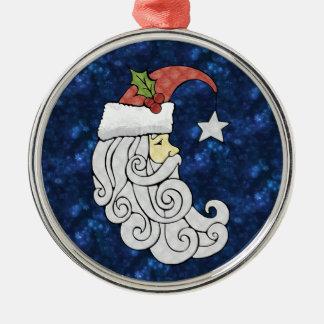 Celestial Santa Christmas Ornament