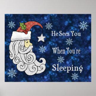Celestial Santa Poster