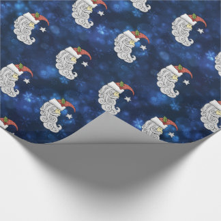 Celestial Santa Wrapping Paper