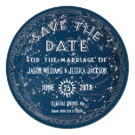 "Celestial Save the Date Announcement 5.25"" Square Invitation Card"