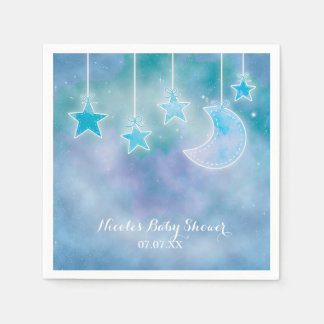 Celestial Sky Galaxy Cosmic Baby Shower Napkins Disposable Napkin