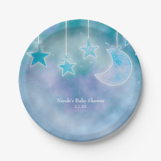 Celestial Sky Galaxy Cosmic Baby Shower Plates