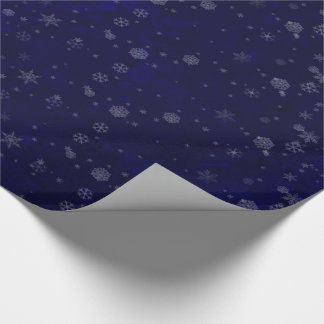 Celestial Snowy Night Wrapping Paper