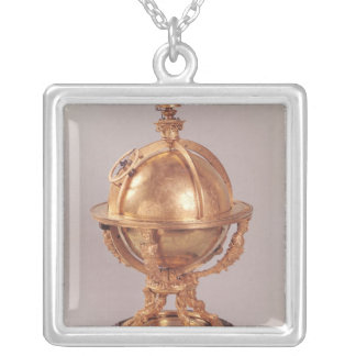 Celestial sphere, c.1580 silver plated necklace