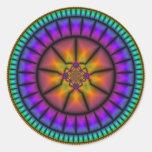 Celestial Sphere Mosaic Round Stickers