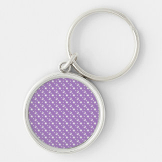 Celestial Stars and Moons on Purple Pattern Key Chain