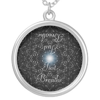 Celestial Stars on Black, Just Breathe Necklace