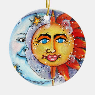 Celestial Sun and Moon Ornament