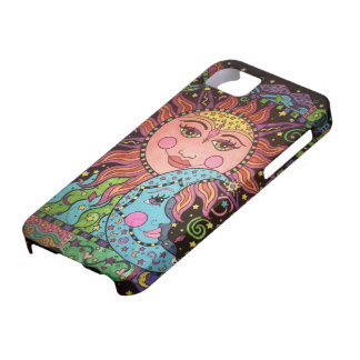 Celestial Sun and Moon Print iPhone 5 Cover