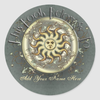 Celestial Sun Bookplate Stickers