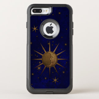 Celestial Sun Moon Brass Bas Relief Graphic OtterBox Commuter iPhone 8 Plus/7 Plus Case