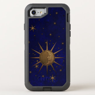 Celestial Sun Moon Brass Bas Relief Graphic OtterBox Defender iPhone 8/7 Case