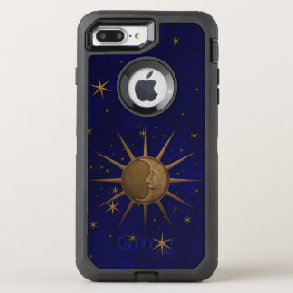 Celestial Sun Moon Brass Bas Relief Graphic OtterBox Defender iPhone 8 Plus/7 Plus Case