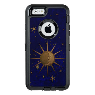 Celestial Sun Moon Brass Bas Relief Graphic OtterBox Defender iPhone Case