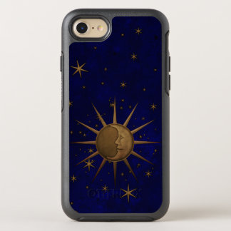 Celestial Sun Moon Brass Bas Relief Graphic OtterBox Symmetry iPhone 8/7 Case