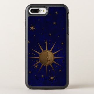 Celestial Sun Moon Brass Bas Relief Graphic OtterBox Symmetry iPhone 8 Plus/7 Plus Case