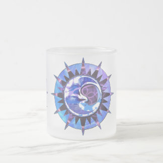 celestial  sun & moon frosted mug