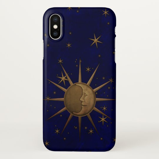 Celestial Sun Moon Starry Night iPhone X Case