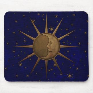 Celestial Sun Moon Starry Night Mouse Mat