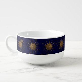 Celestial Sun Moon Starry Night Soup Mug