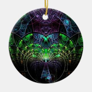 Celestial Tree Round Ceramic Decoration