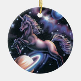 Celestial Unicorn Christmas Ornament