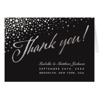 Celestial Union Thank You Cards - Silver