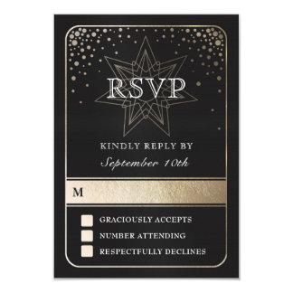 Celestial Union Wedding RSVP Cards (Gold)