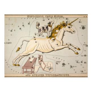 Celestial Vintage Map Post Card