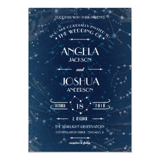 "Celestial Wedding Invitation 5"" X 7"" Invitation Card"