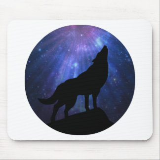 Celestial Wolf Mouse Mat